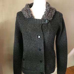 Gap Grey Wool Sweater Jacket Xs